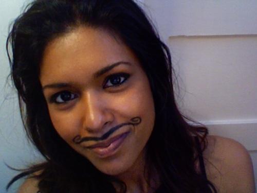 Carmen's Movember stache